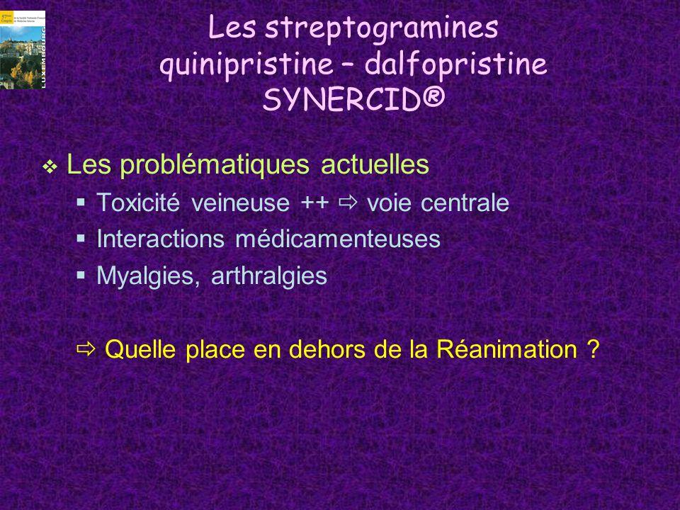 Les streptogramines quinipristine – dalfopristine SYNERCID®
