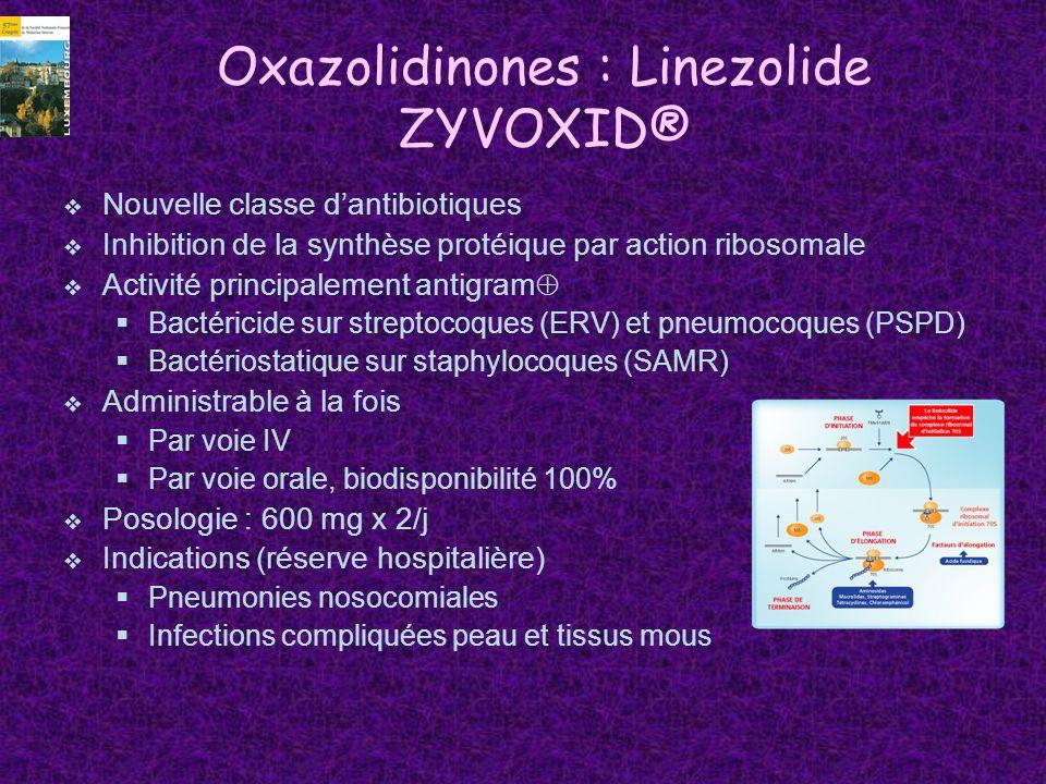 Oxazolidinones : Linezolide ZYVOXID®