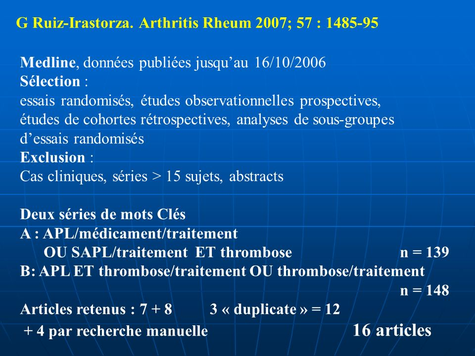 G Ruiz-Irastorza. Arthritis Rheum 2007; 57 : 1485-95