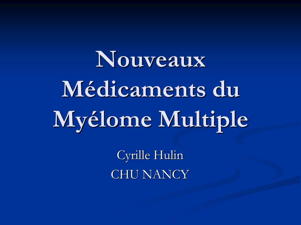 Nouveaux Médicaments du Myélome Multiple