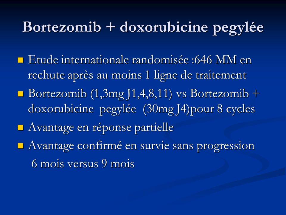 Bortezomib + doxorubicine pegylée