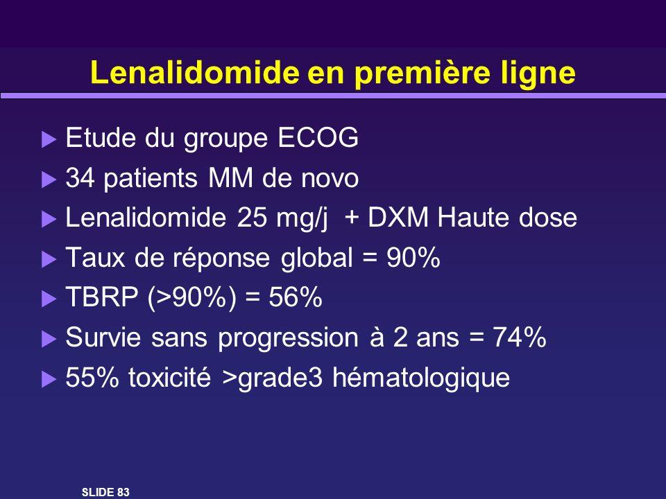 Lenalidomide en première ligne