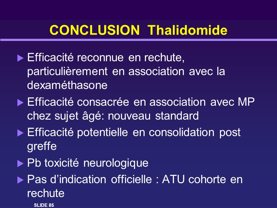 CONCLUSION Thalidomide