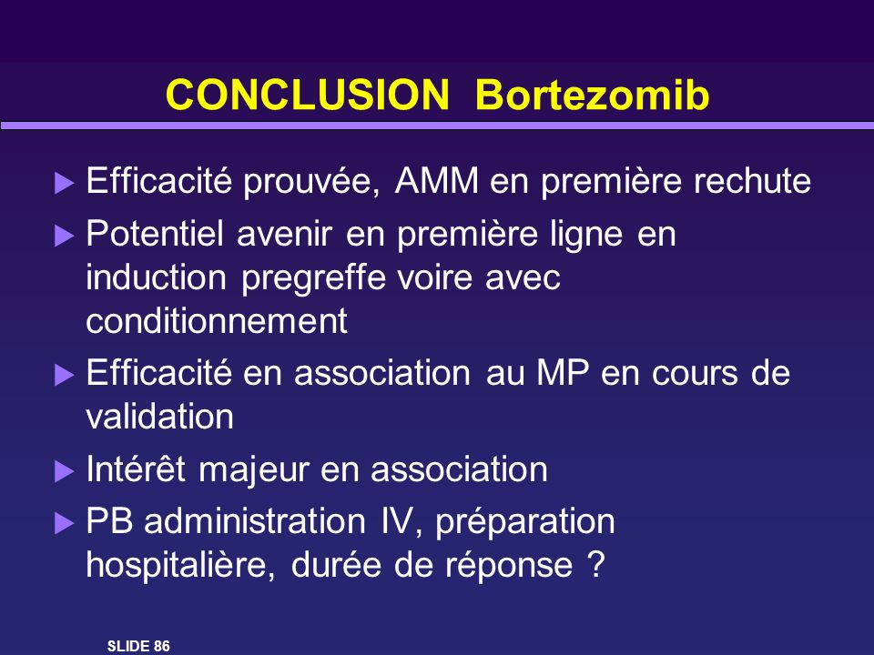 CONCLUSION Bortezomib