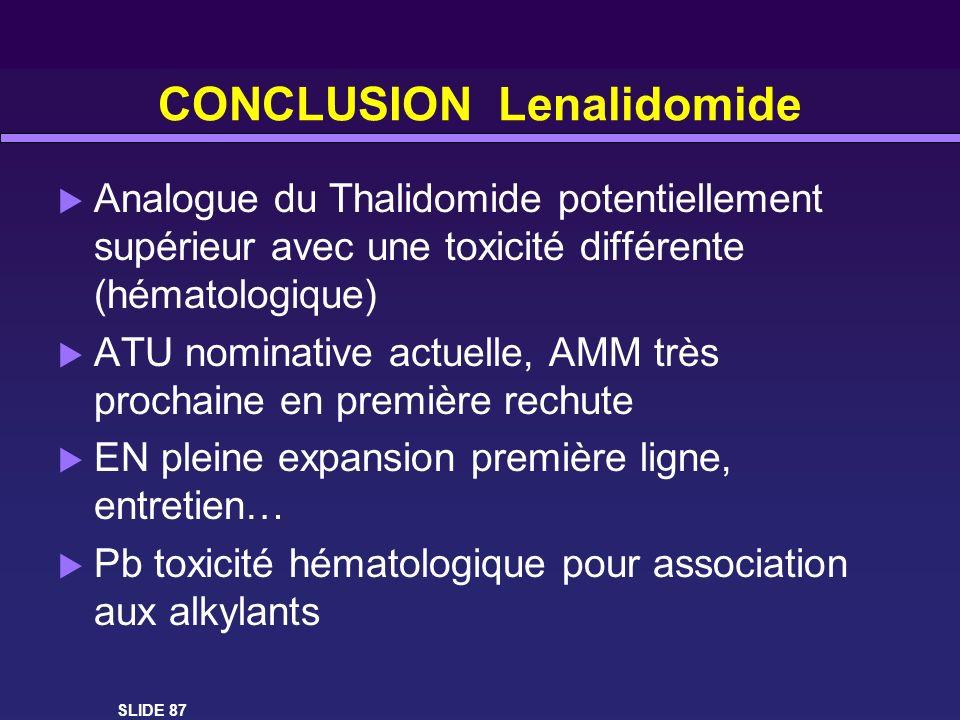 CONCLUSION Lenalidomide