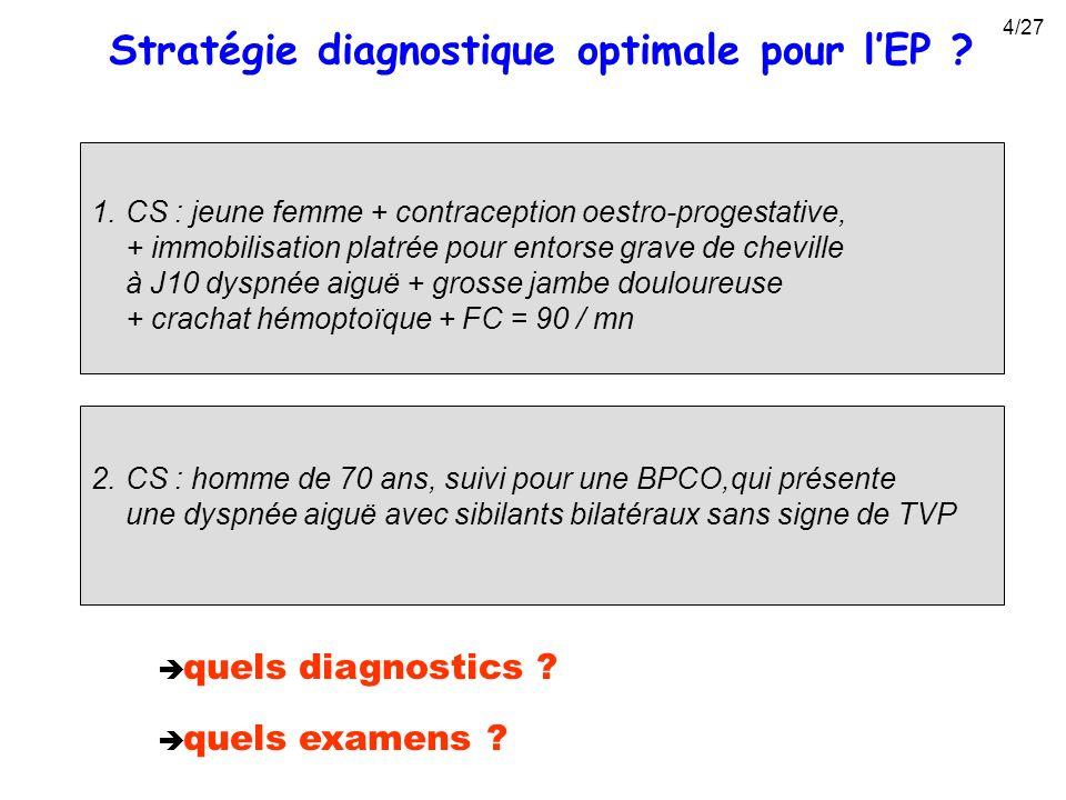 Stratégie diagnostique optimale pour l'EP