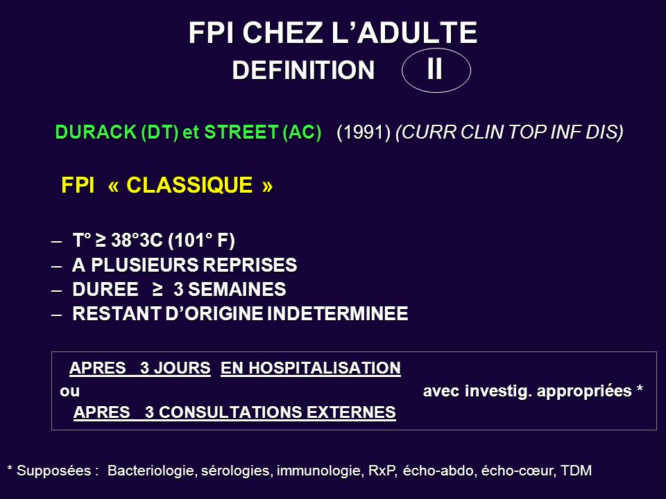 FPI CHEZ L'ADULTE DEFINITION II