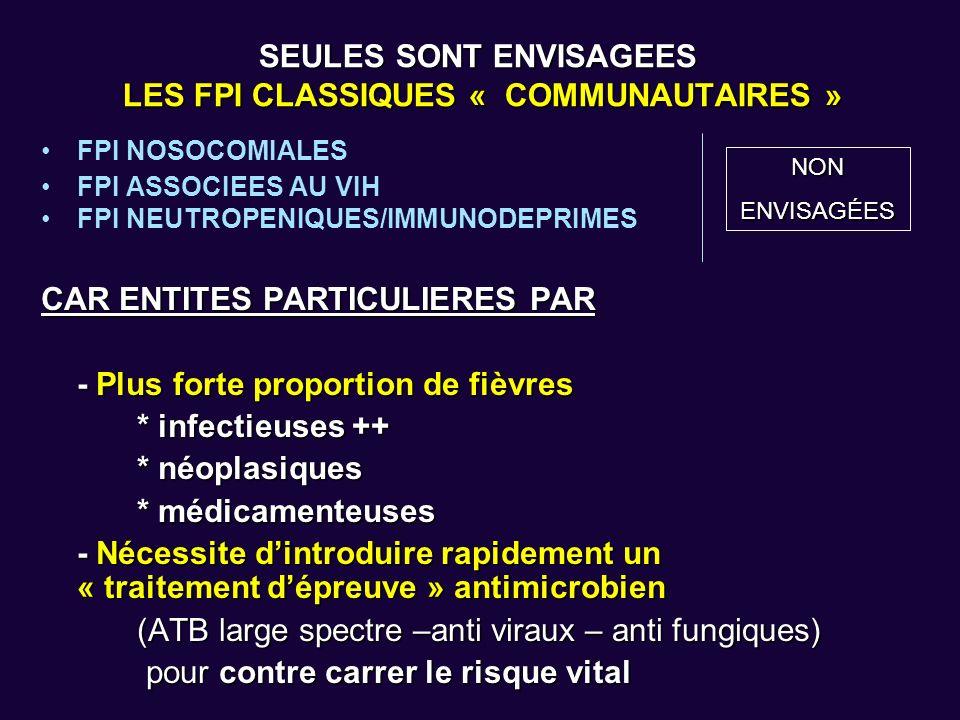 SEULES SONT ENVISAGEES LES FPI CLASSIQUES « COMMUNAUTAIRES »