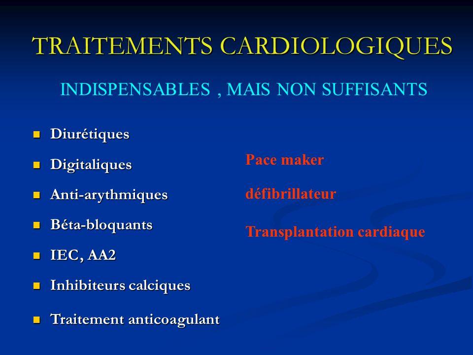 TRAITEMENTS CARDIOLOGIQUES