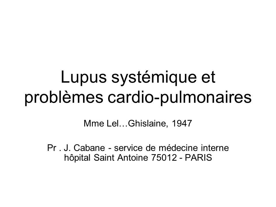 Lupus systémique et problèmes cardio-pulmonaires