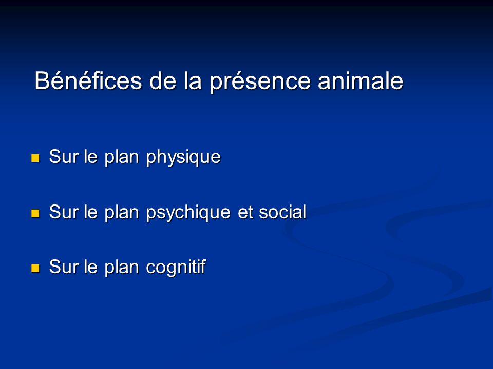 Bénéfices de la présence animale