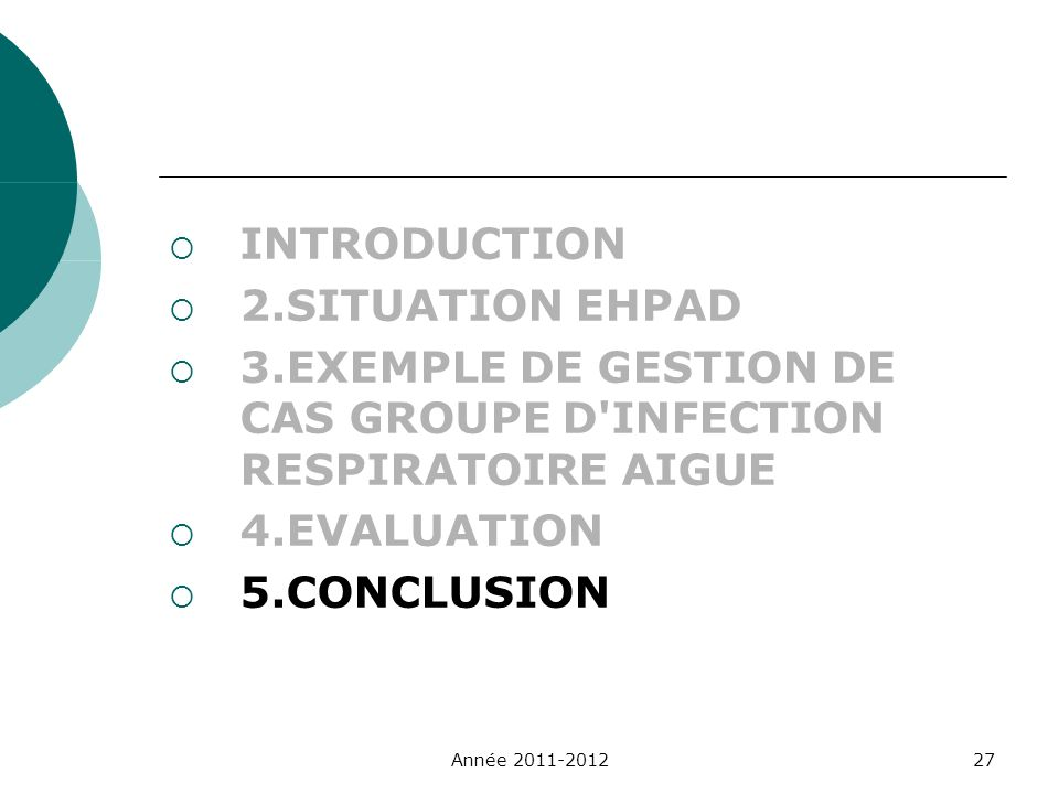 3.EXEMPLE DE GESTION DE CAS GROUPE D INFECTION RESPIRATOIRE AIGUE