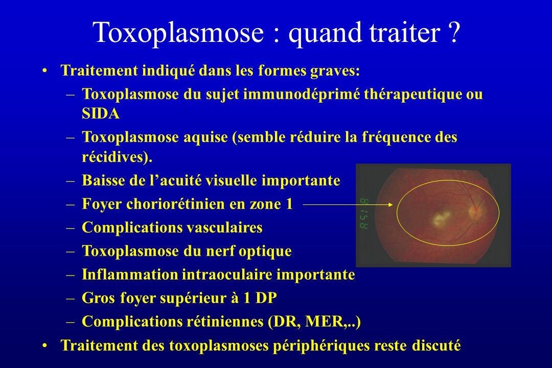 Toxoplasmose : quand traiter
