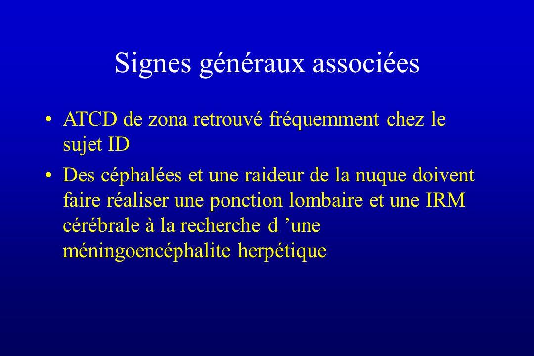 Signes généraux associées