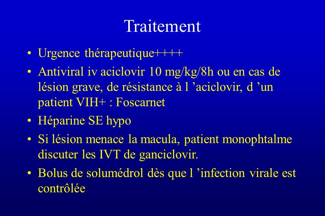 Traitement Urgence thérapeutique++++