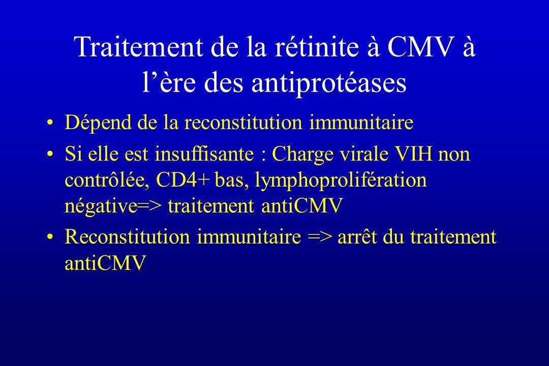 Traitement de la rétinite à CMV à l'ère des antiprotéases