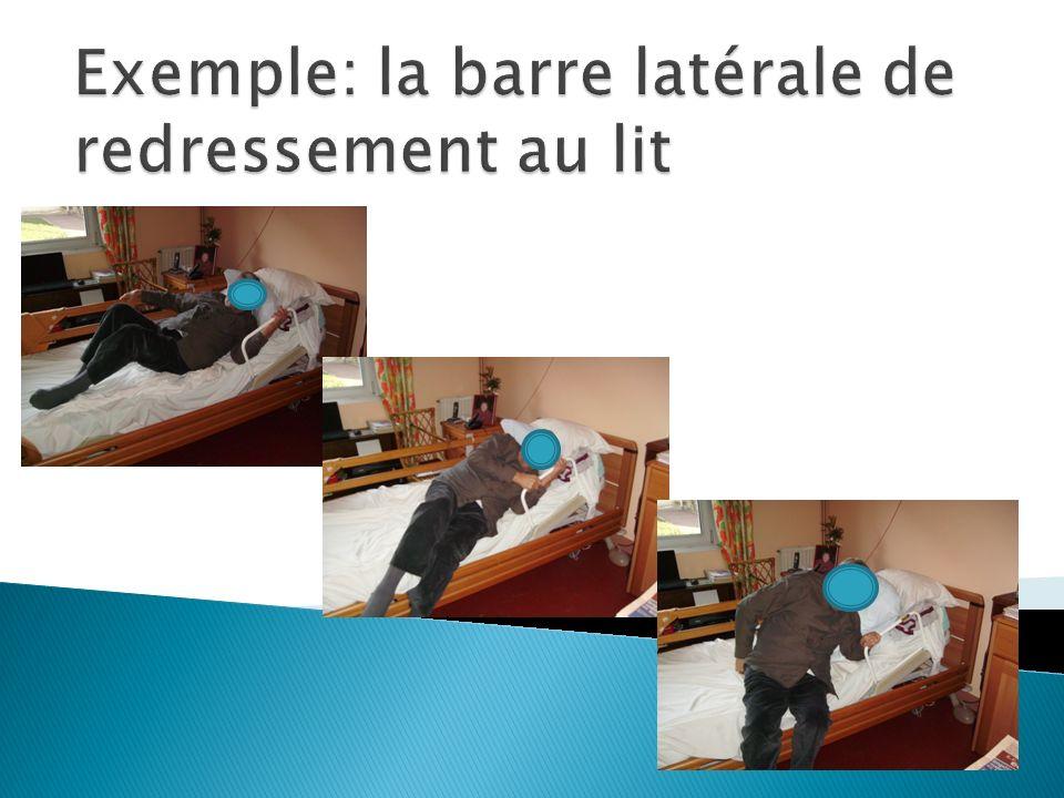 Exemple: la barre latérale de redressement au lit