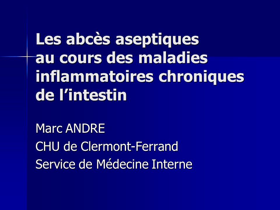 Marc ANDRE CHU de Clermont-Ferrand Service de Médecine Interne
