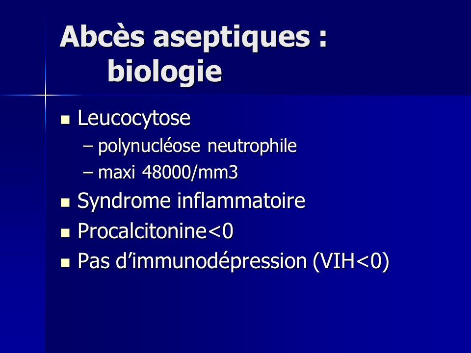 Abcès aseptiques : biologie