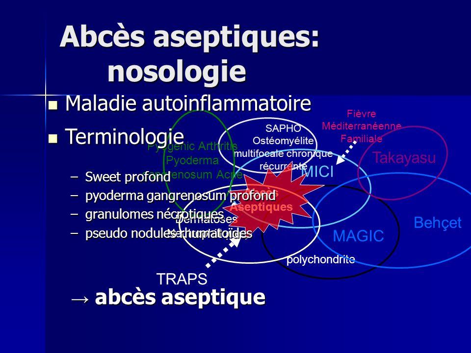 Abcès aseptiques: nosologie