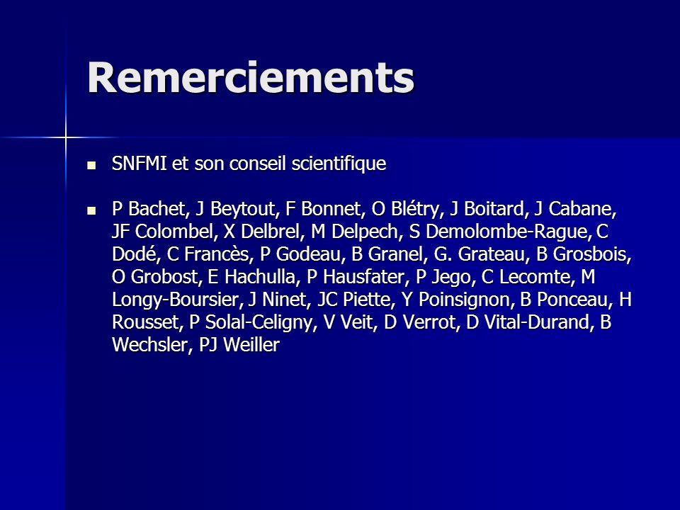 Remerciements SNFMI et son conseil scientifique