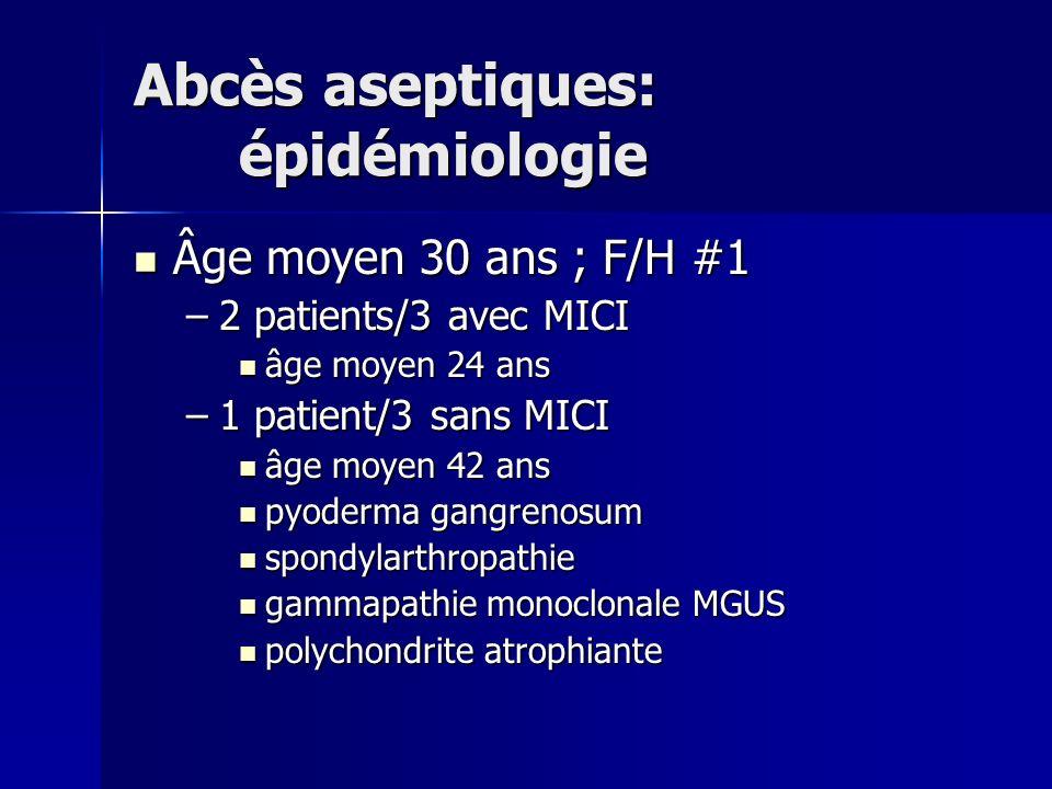 Abcès aseptiques: épidémiologie