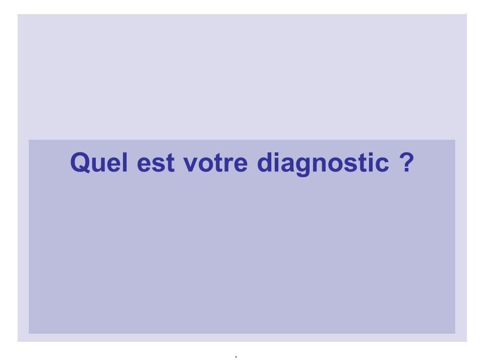Quel est votre diagnostic