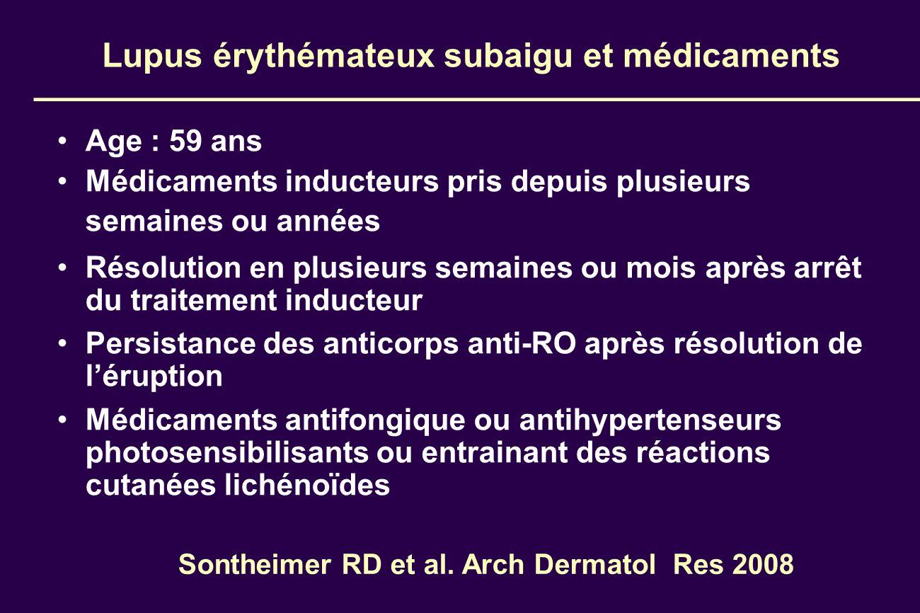 Lupus érythémateux subaigu et médicaments