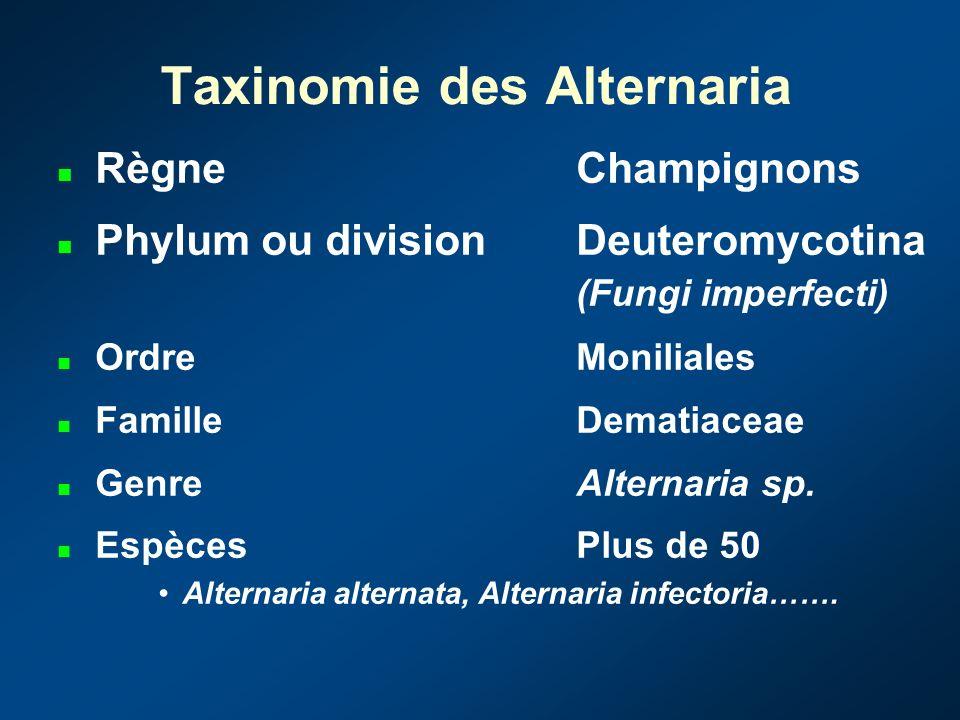 Taxinomie des Alternaria