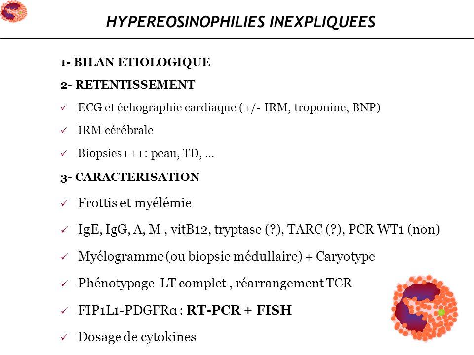 HYPEREOSINOPHILIES INEXPLIQUEES