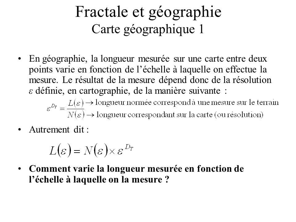 Fractale et géographie Carte géographique 1