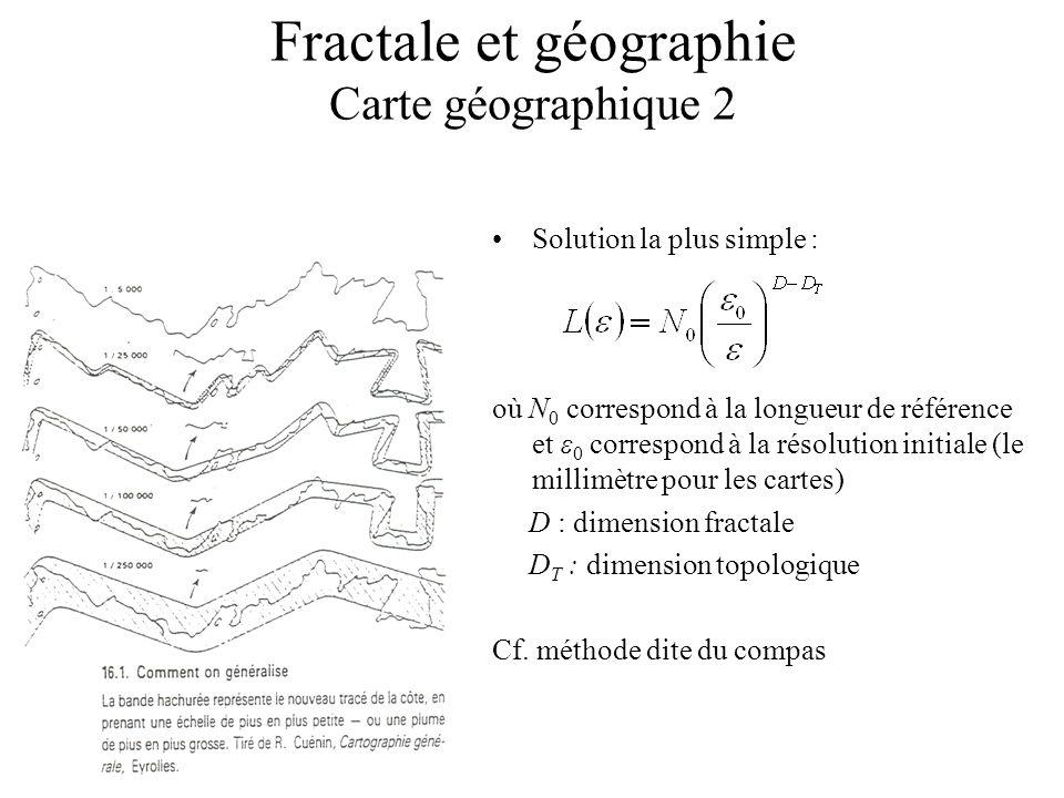 Fractale et géographie Carte géographique 2