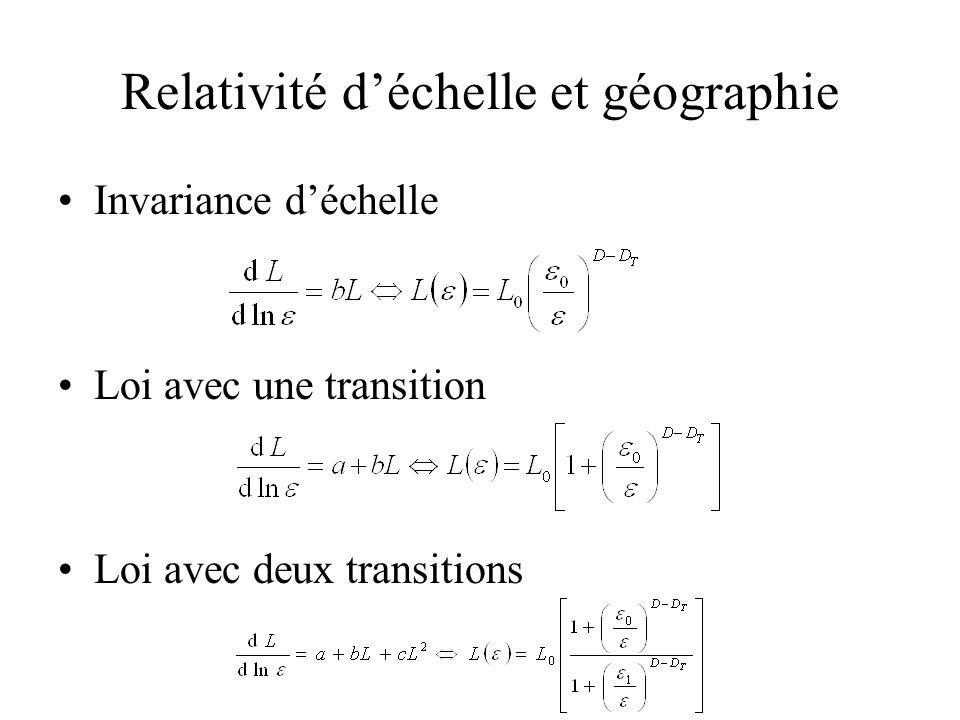Relativité d'échelle et géographie