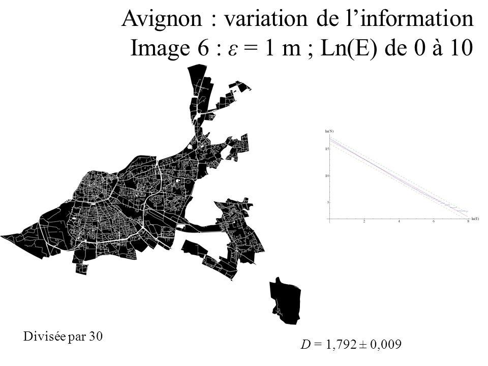 Avignon : variation de l'information