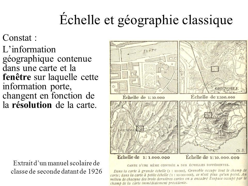 Échelle et géographie classique