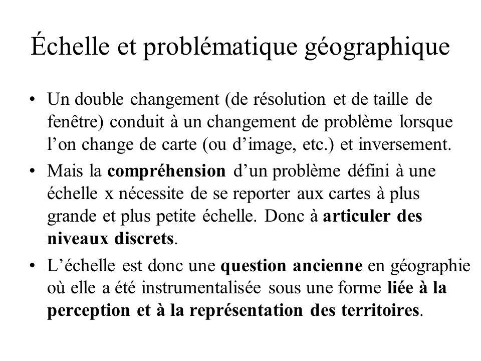 Échelle et problématique géographique