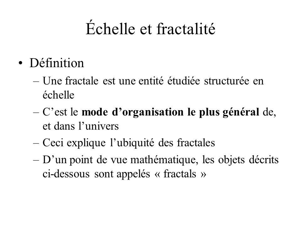 Échelle et fractalité Définition