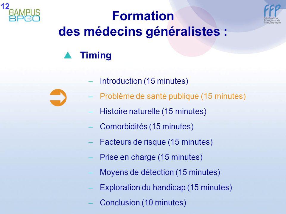 Formation des médecins généralistes :