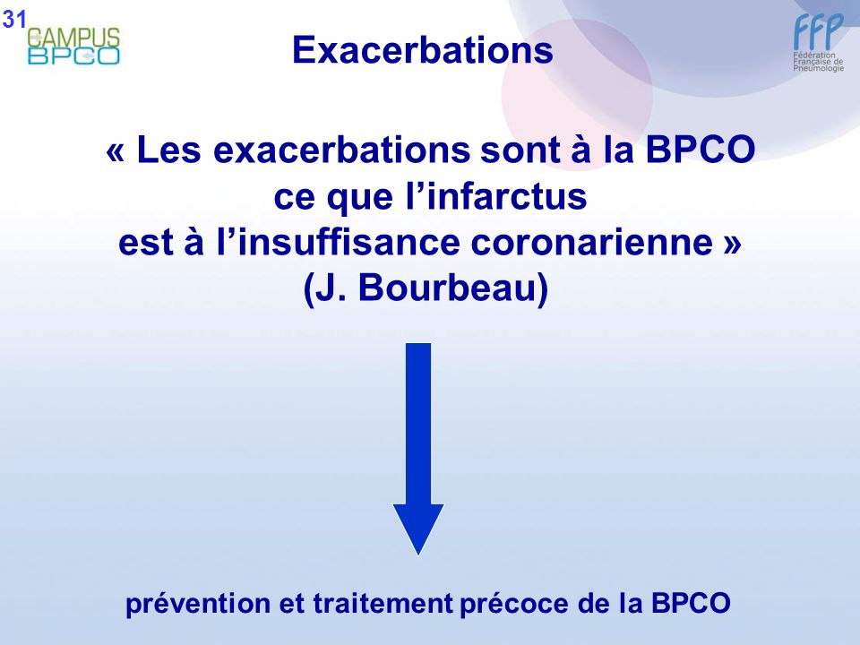 « Les exacerbations sont à la BPCO ce que l'infarctus