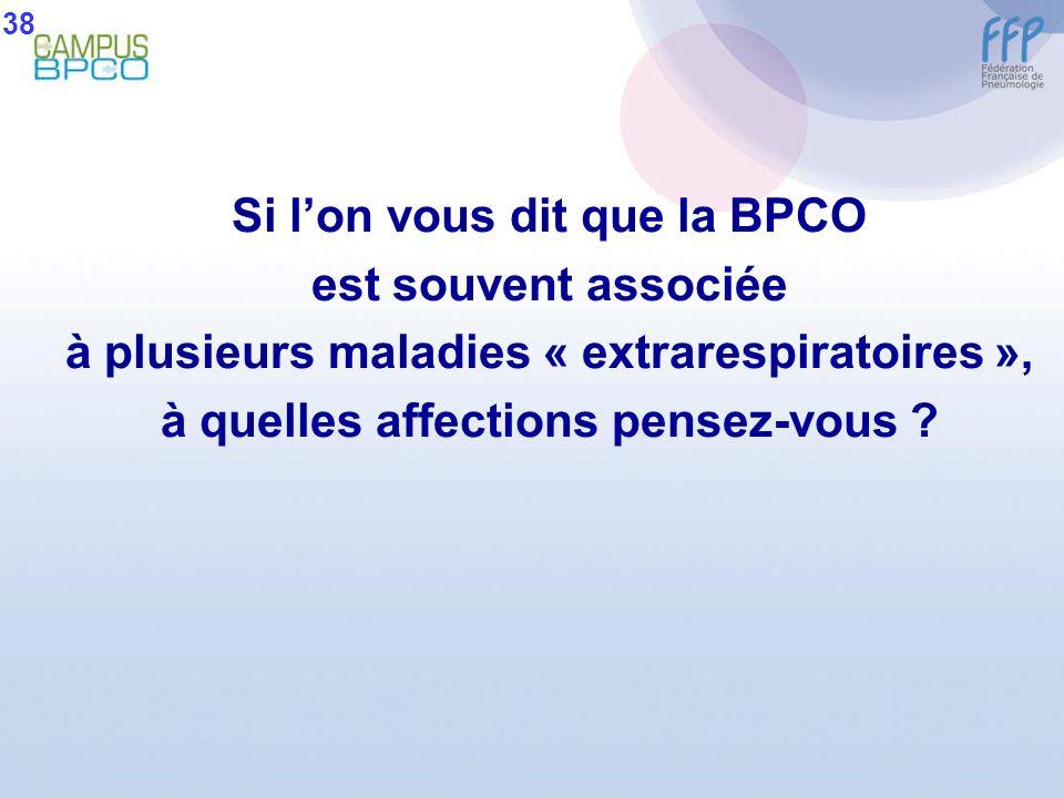 Si l'on vous dit que la BPCO est souvent associée