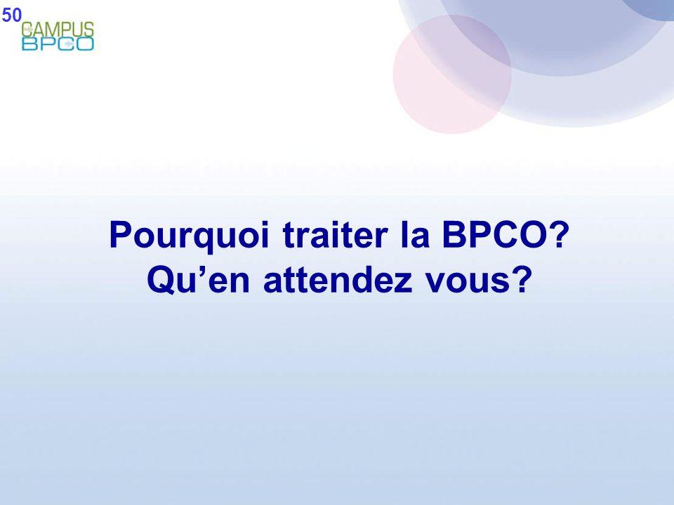 Pourquoi traiter la BPCO