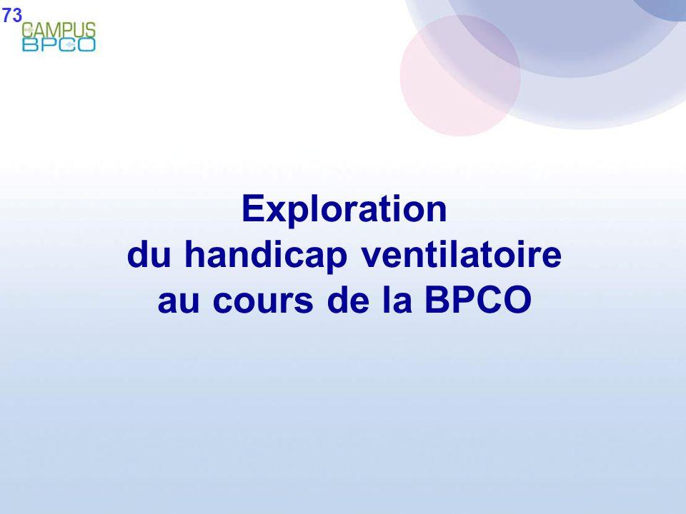 Exploration du handicap ventilatoire au cours de la BPCO