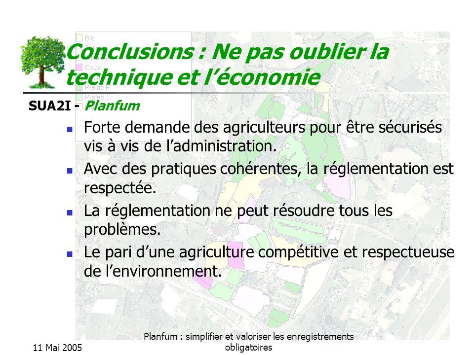 Conclusions : Ne pas oublier la technique et l'économie