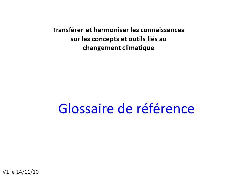 Glossaire de référence