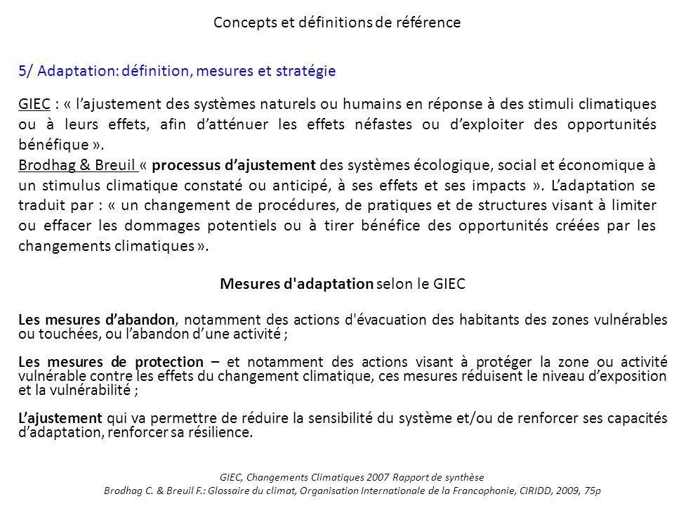 Concepts et définitions de référence