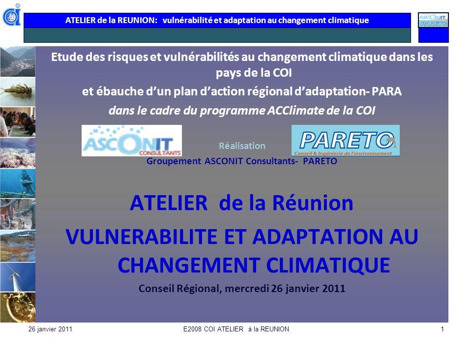 VULNERABILITE ET ADAPTATION AU CHANGEMENT CLIMATIQUE