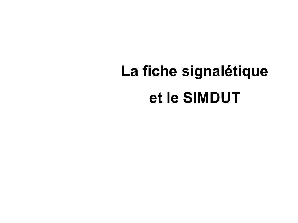 La fiche signalétique et le SIMDUT