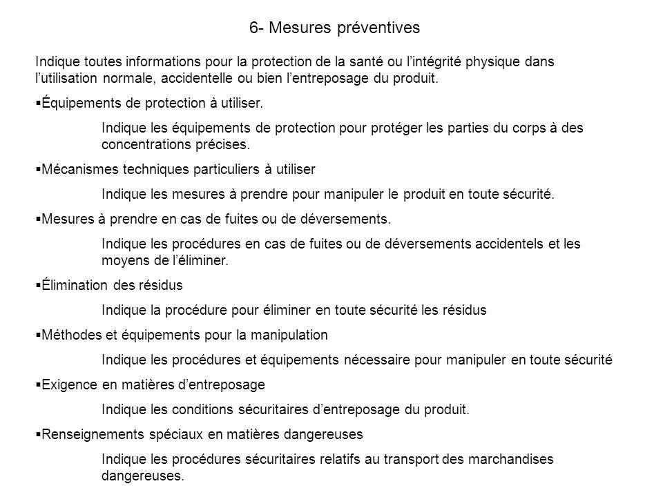 6- Mesures préventives