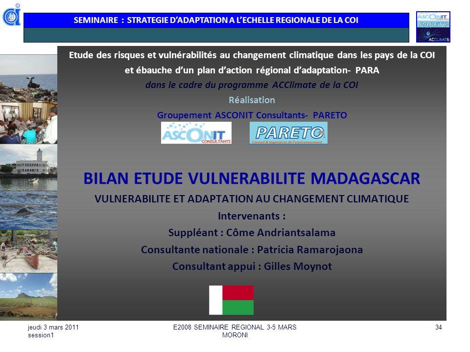 BILAN ETUDE VULNERABILITE MADAGASCAR