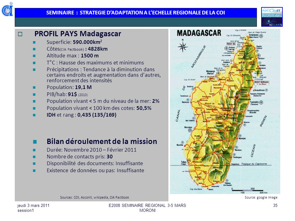 PROFIL PAYS Madagascar
